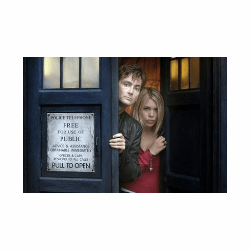 Dr. Who Movie Poster David Tennant Billie Piper Tardis 24in x36 in