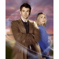 Dr. Who Poster #03 Billie Piper David Tennant 24inx36in