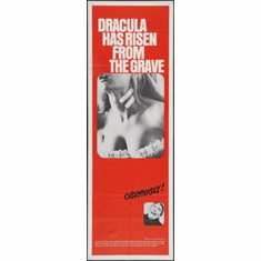 Dracula Has Risen From The Grave Movie Poster Insert 14x36 #01