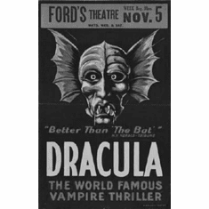 """Dracula Stage Play Black and White Poster 24""""x36"""""""