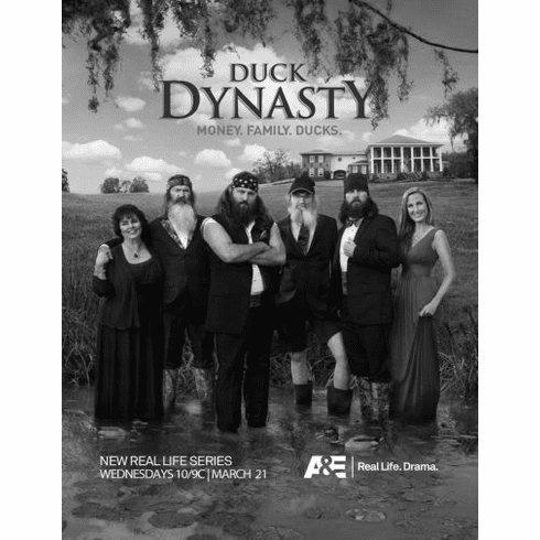 "Duck Dynasty Black and White Poster 24""x36"""