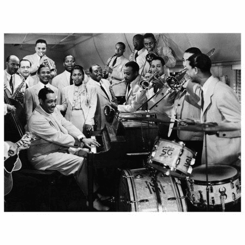 "Duke Ellington Orchestra Black and White Poster 24""x36"""