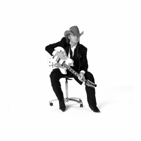 "Dwight Yoakum Black and White Poster 24""x36"""