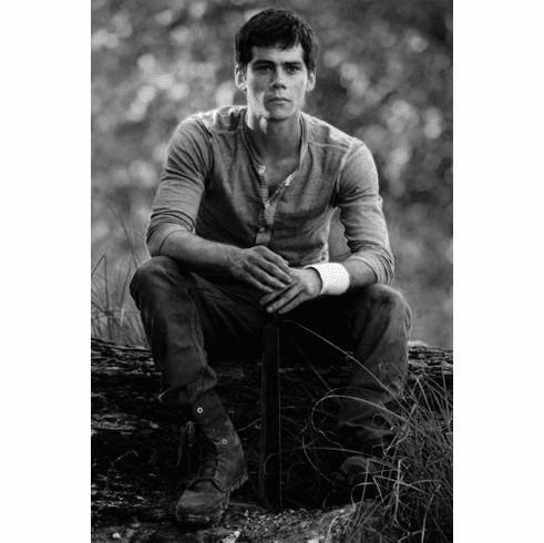"Dylan Obrien Black and White Poster 24""x36"""