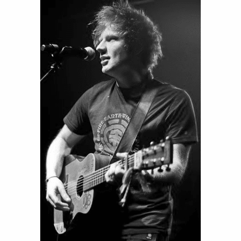 "Ed Sheeran Black and White Poster 24""x36"""