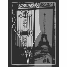 """Eiffel Tower Pop Art Black and White Poster 24""""x36"""""""