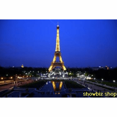 Eiffel Tower Poster At Night 24inx36in