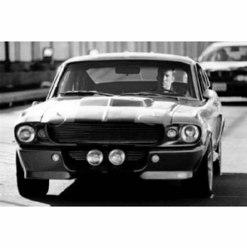"""Eleanor Mustang Black and White Poster 24""""x36"""""""