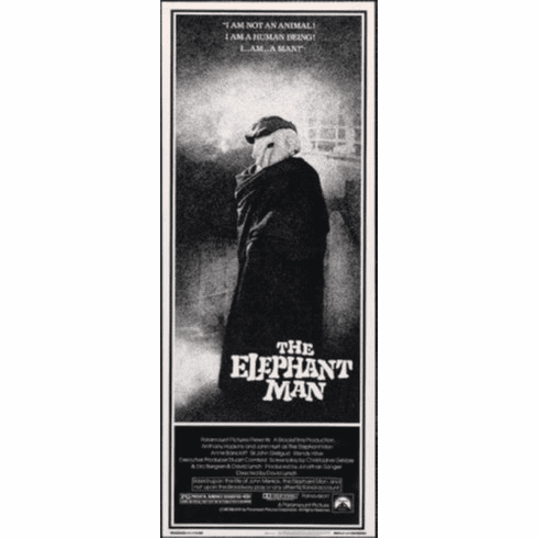Elephant Man Insert Movie Poster 14x36