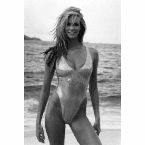 "Elle Macpherson Black and White Poster 24""x36"""