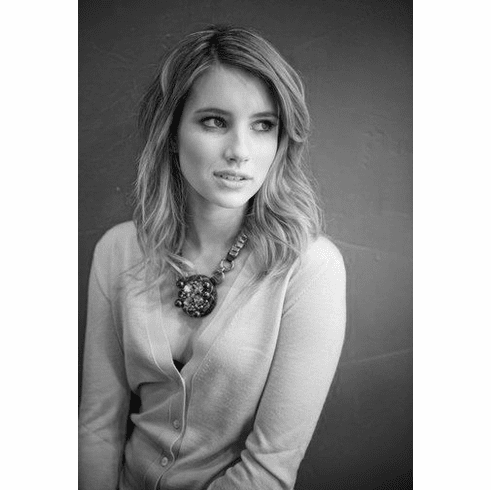 """Emma Roberts Black and White Poster 24""""x36"""""""