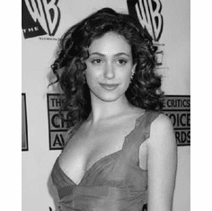 "Emmy Rossum Black and White Poster 24""x36"""