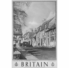 "England Britain Black and White Poster 24""x36"""