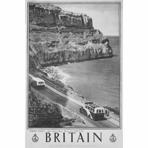 """England Britain Black and White Poster 24""""x36"""""""