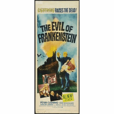 Evil Of Frankenstein The Movie Poster Insert 14x36 #01