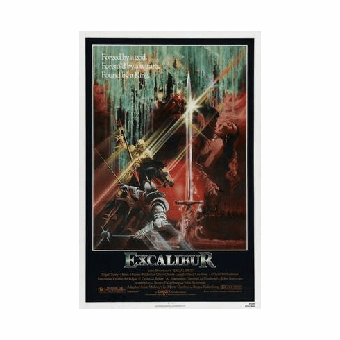 Excalibur Movie Poster 24in x36 in