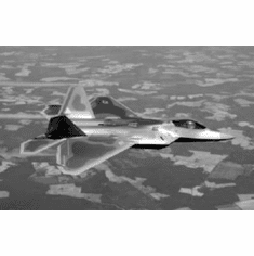 """F22 In Flight Black and White Poster 24""""x36"""""""