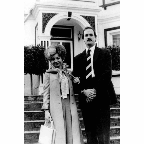 """Fawlty Towers Black and White Poster 24""""x36"""""""