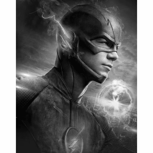"""Flash Black and White Poster 24""""x36"""""""