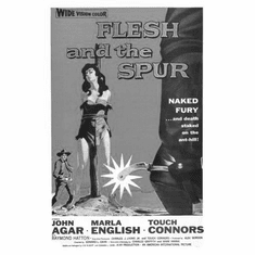 """Flesh And The Spur Black and White Poster 24""""x36"""""""