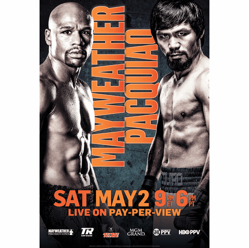 Floyd Mayweather Jr vs. Manny Pacquiao Promo Poster Boxing 24x36