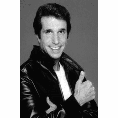 """Fonzie Black and White Poster 24""""x36"""""""