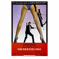 For Your Eyes Only Movie Poster James Bond 24inx36in