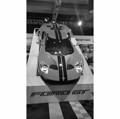 """Ford Gt 2016 Black and White Poster 24""""x36"""""""