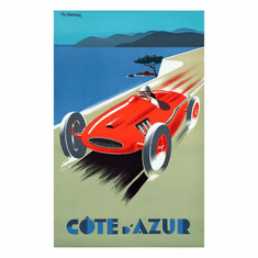 France Cote D'Azur Poster 24in x36in