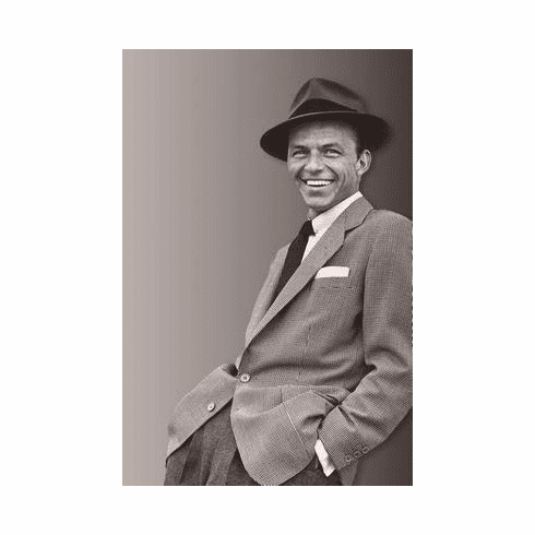 Frank Sinatra Poster Suit Fedora 24in x36 in