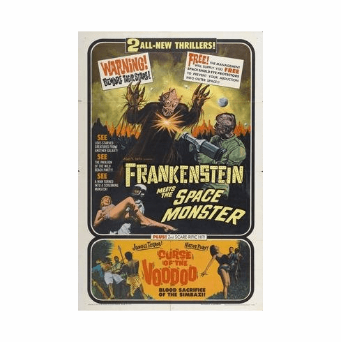 Frankenstein Meets Spacemonster Movie Poster 11x17 Mini Poster