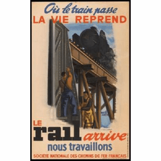 French National Railways 1944 Mini Poster #01 11inx17in Mini Poster