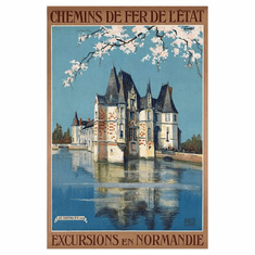 French Railway Poster 24in x36in