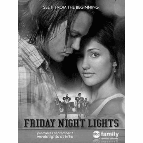 """Friday Night Lights Black and White Poster 24""""x36"""""""