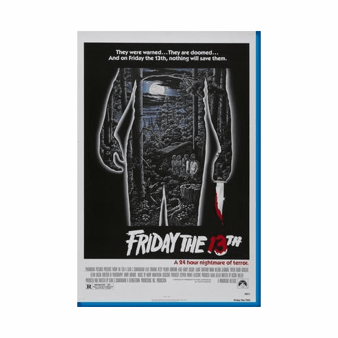 Friday The 13Th Movie Poster 24inx36in