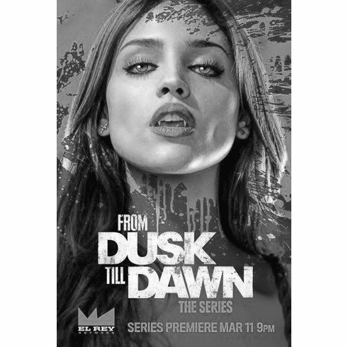 "From Dusk Til Dawn Black and White Poster 24""x36"""