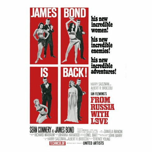 From Russia With Love Movie Poster 24inx36in