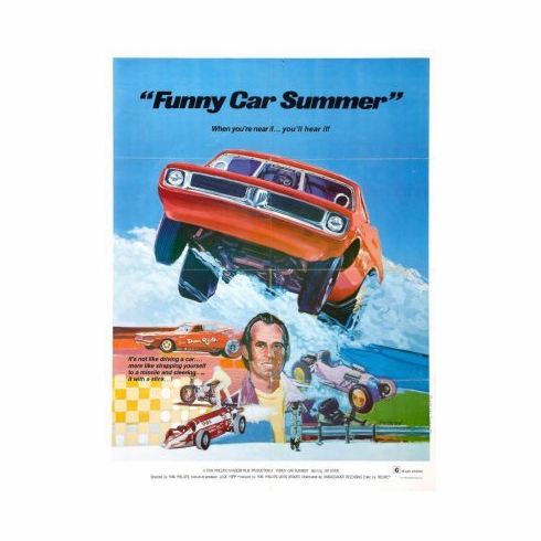 Funny Car Summer Movie mini poster 11x17 #01