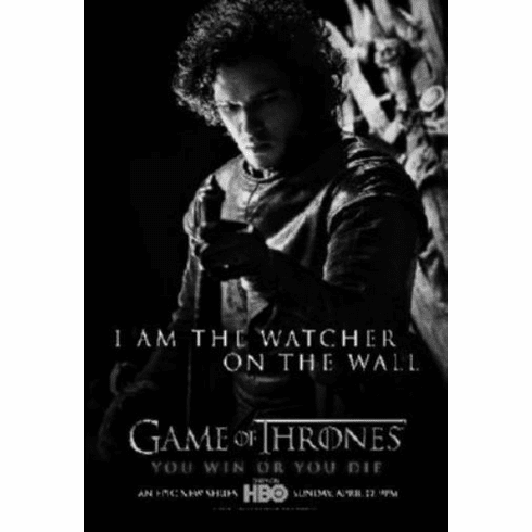 "Game Of Thrones Black and White Poster 24""x36"""