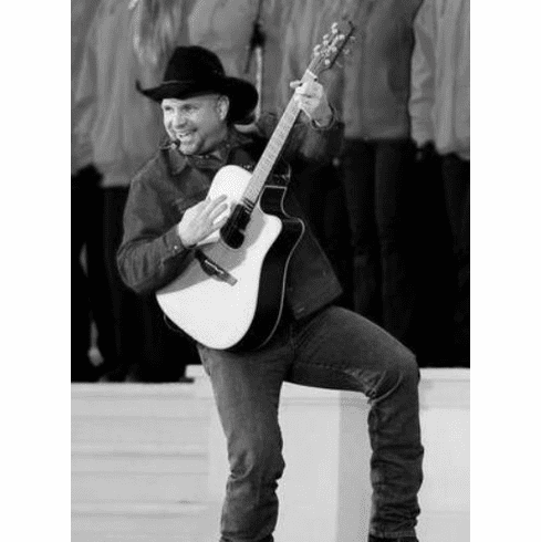 "Garth Brooks Black and White Poster 24""x36"""