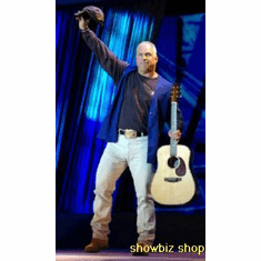 Garth Brooks Poster Hats Off On Stage 24inx36in