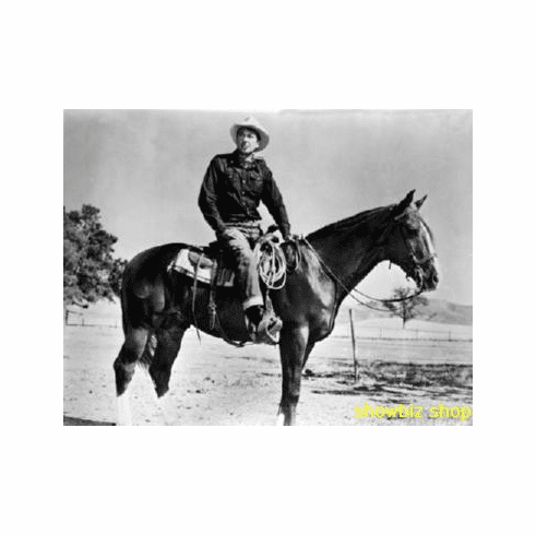 Gary Cooper Poster Bw Photo On Horse 24inx36in