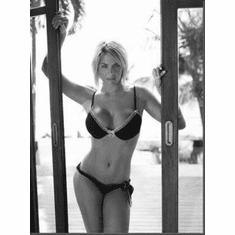 "Gemma Atkinson Black and White Poster 24""x36"""