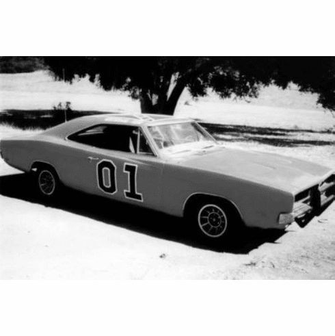 """General Lee Black and White Poster 24""""x36"""""""