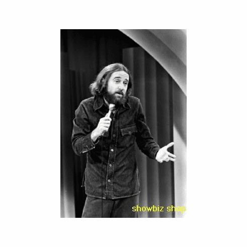 George Carlin Poster Bw Standup Act 24inx36in