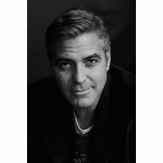 """George Clooney Black and White Poster 24""""x36"""""""
