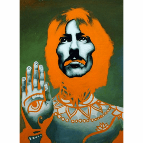 George Harrison Psychedelic Poster 24inx36in