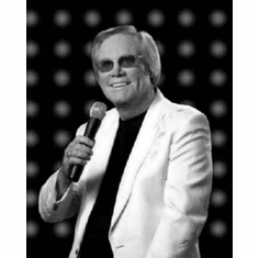 "George Jones Black and White Poster 24""x36"""