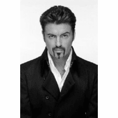 """George Michael Black and White Poster 24""""x36"""""""