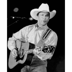 "George Strait Black and White Poster 24""x36"""